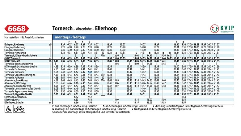Fahrplan ab Esingen