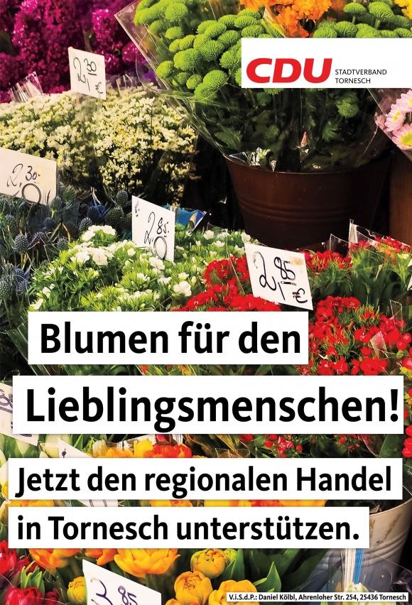 Blumen für den Lieblingsmenschen - Jetzt den regionalen Handel unterstützen