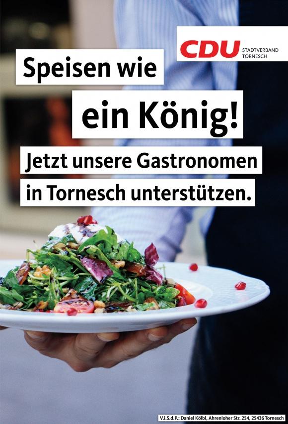 Speisen wie ein König - Jetzt unsere Gastronomie unterstützen